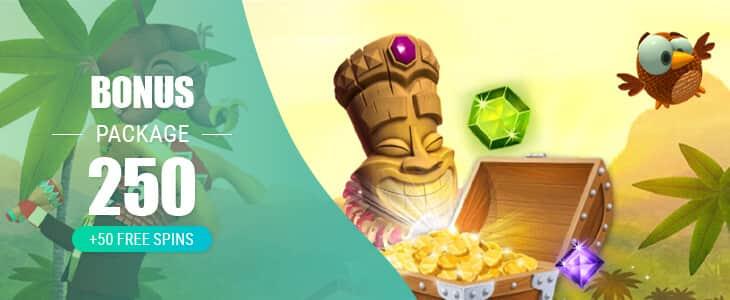 Spinia Casino Bonus Package