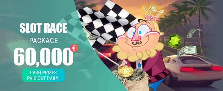 Spinia Casino Slot Race Package